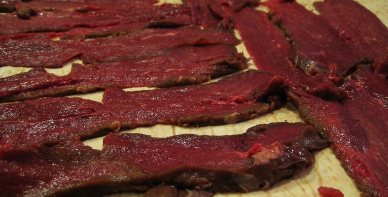 deer jerky meat