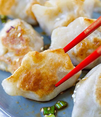 Dumplings and Veggies or Chicken