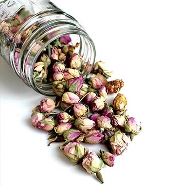 dried herbs in a jar