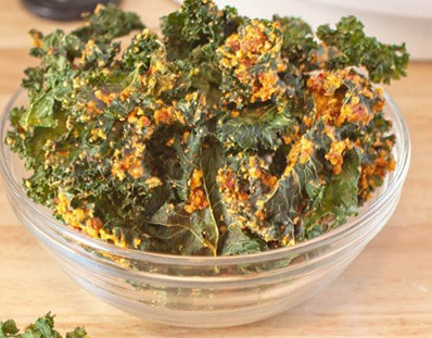 Dried Tomatoes and Cashews with Kale Chips