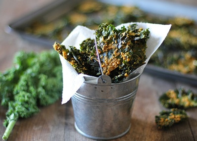 Tahini with Kale Chips