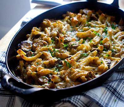 Wild Mushroom Stew and Pork